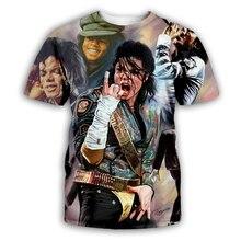 PLstar Cosmos 2019 mode hommes/femmes T-shirt roi du Rock and Roll Michael Jackson impression 3d T-shirt garçon chanteur étoile T-shirt
