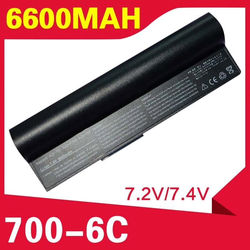 6600mAh negro batería de portátil para Asus Eee PC 2G 4G 700G 701 8G 900 90-OA001B1000 A22-700 A22-P701 A23-P701 P22-900