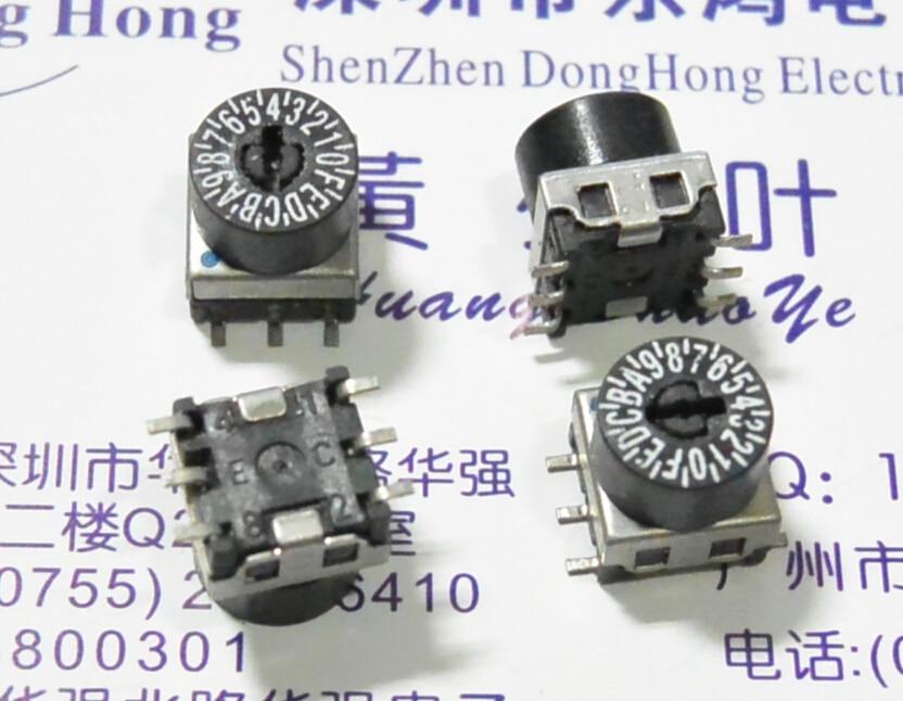 5 unids/lote 0-F/16 poco parche 7,5x7,5 dial giratorio código interruptor 8421C código positivo
