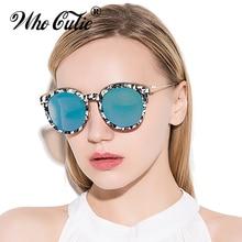WHO CUTIE-lunettes de soleil rondes femme   Marque de styliste rétro Vintage, lentille circulaire inspirée, lunettes de soleil OM371, été 2018