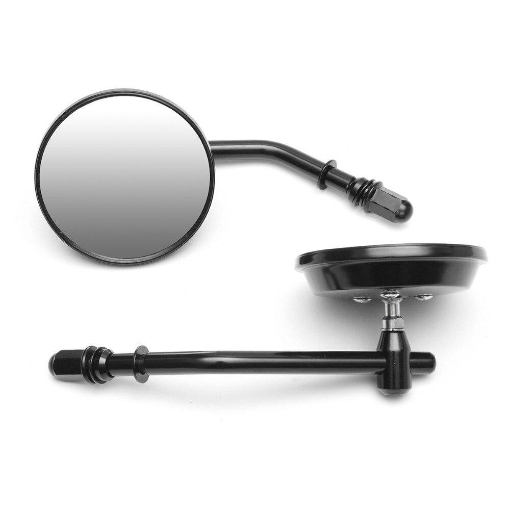 """8 мм черное/хромовое зеркало для мотоцикла с коротким стволом 3 """"круглое зеркало заднего вида для Harley Dyna Bobber Chopper Old School, с креплением на голову, модель 1982-2018"""