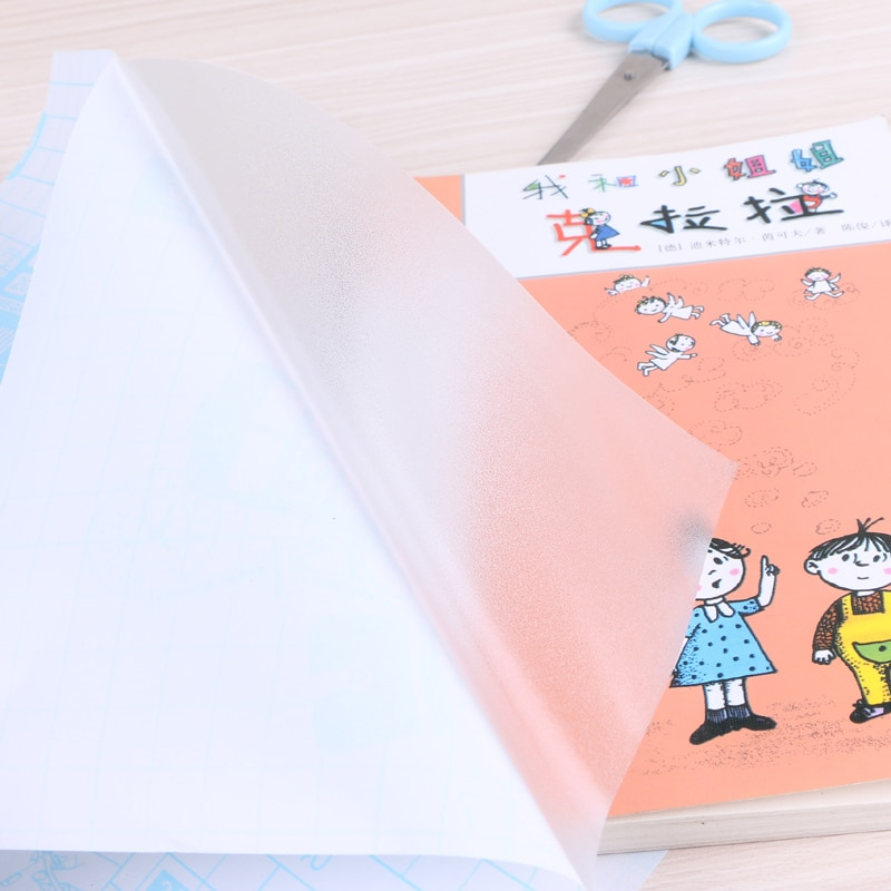 Прозрачная Матовая пленка для упаковки книг, 10 листов, 45х30 см, 16 к, Защитная пленка для студенток, школы, офиса, 5666