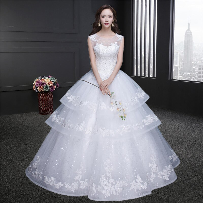 Gorgeous Ball Gown Wedding Dress With Lace Vestido De Novia Princesa Vintage Wedding Dresses Real Image Bridal Gown