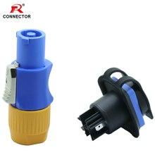 1 ensemble étanche Powercon connecteur 3 broches NAC3FCA 20A câble ca connecteur dalimentation 250V haut-parleur châssis adaptateur