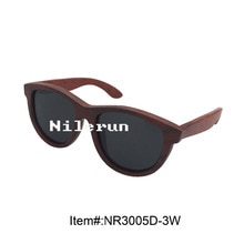 luxury big grey polarized lenses imported red wood sunglasses