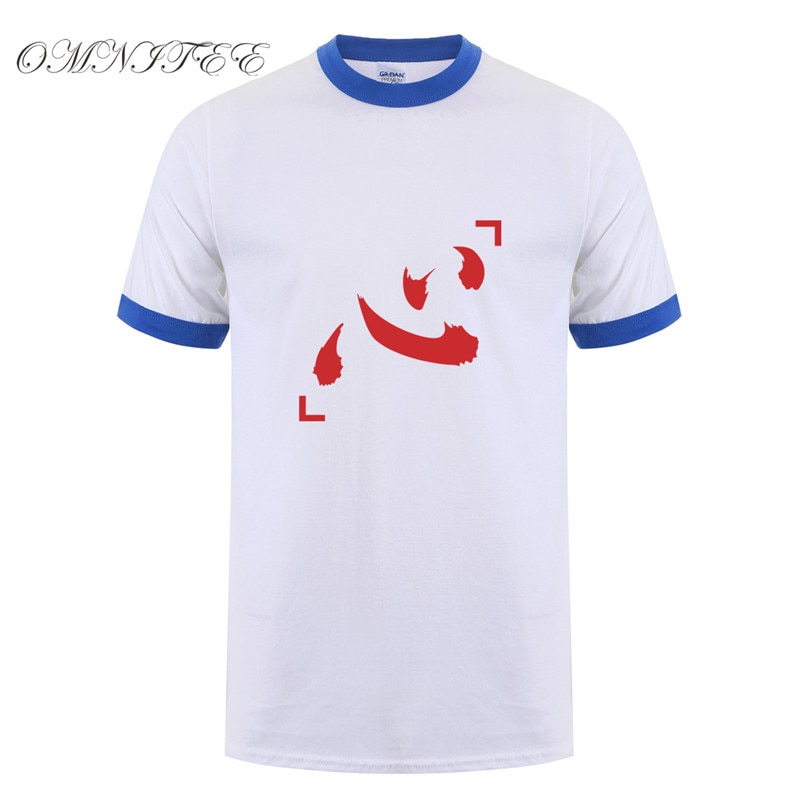 Omnitee Anime Netero símbolo Hunter X Hunter camisetas Tops hombres Camisa de algodón de manga corta hombres Netero Cosplay camiseta OZ-235