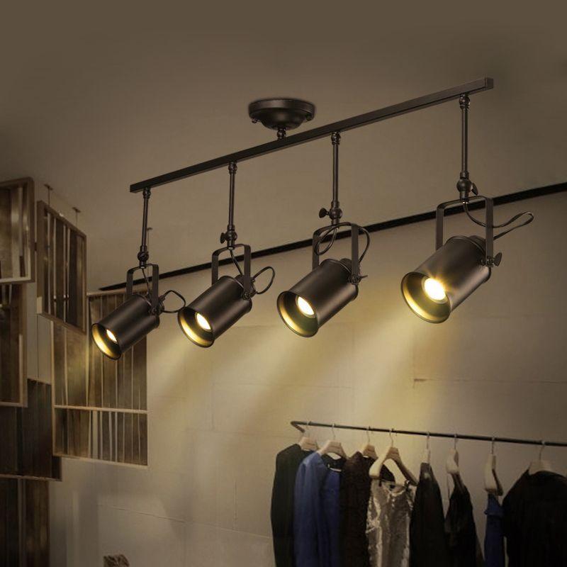 Luz colgante nórdica Loft Led Rh Industrial punto negro luz colgante Lustres dormitorio Bar Sala lámpara escandinava