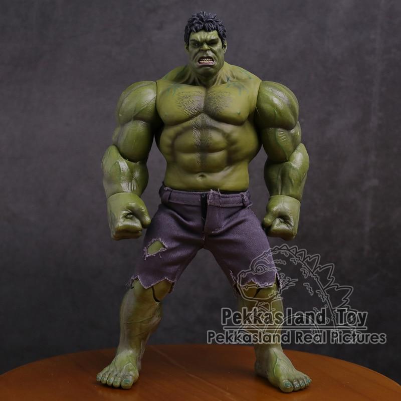 Экшн-фигурка супергероев Marvel, ПВХ, Мстители, Халк, 25 см