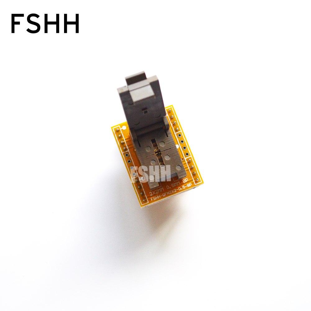 op77az op77az 883q dip8 QFN8 to DIP8 Programmer Adapter WSON8 DFN8 MLF8 to DIP8 socket Pitch=0.5mm Size=2x2mm