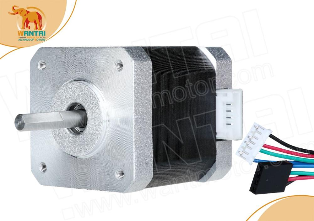 ¡Envío DE envío a la UE! 1pc Nema 17 Wantai Motor paso a paso, 42BYGHW811L20P1-X2, 4800g. cm, 2.5A, eje plano, impresora 3D Reprap I3