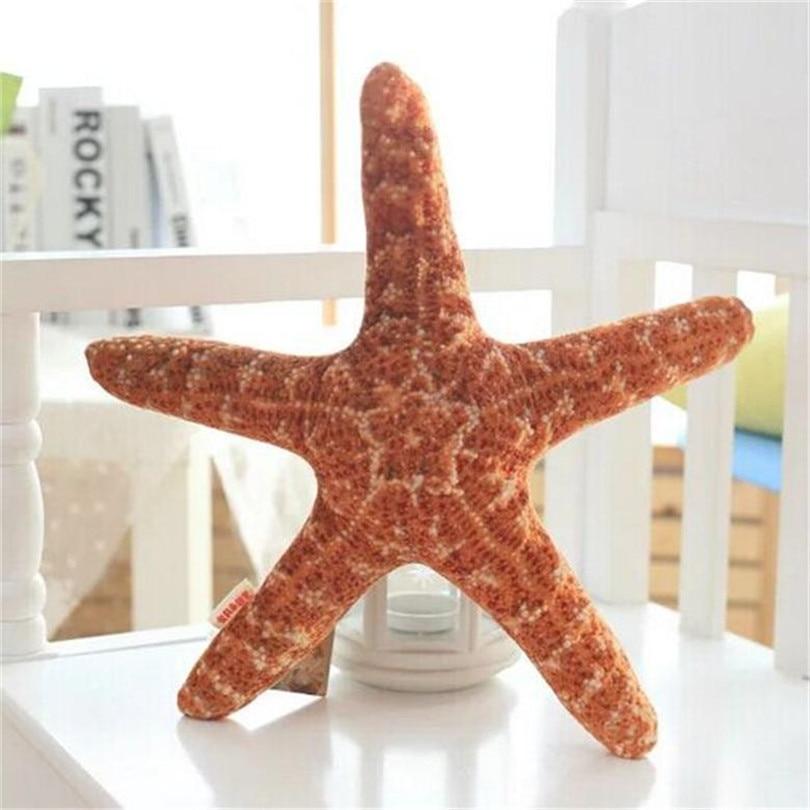 RUBIHOME, juguetes con diseño 3D de estrellas del mar de simulación, cojín decorativo creativo, almohada de tiro con tela suave interior, sofá decorativo para niños