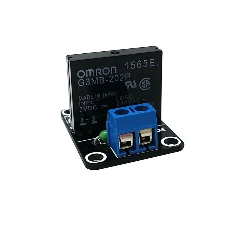 G3MB-202P 5v dc 1 canal módulo de placa de relé de estado sólido para arduino fusível de alto nível para arduino ssr G3MB-202P