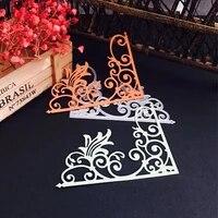 scd577 corner lace metal cutting dies for scrapbooking stencils diy album cards decoration embossing folder die cuts template