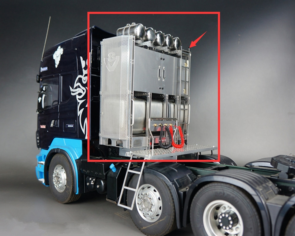 Juego de estantería para camiones y camiones de tipo magnético para camiones y remolques pesados tamiya a escala 114, rc MAN tgx beenz scania R730 R620, tractor