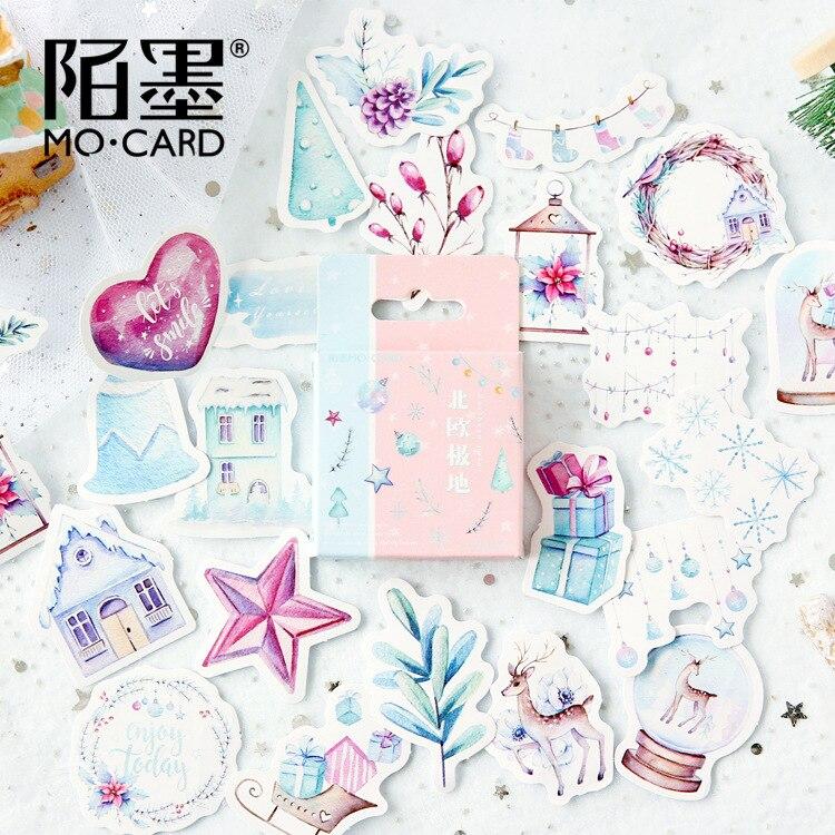 Norte polar mini Decorativa Adesivos Adesivos Autocolantes Decoração DIY Ofício Scrapbooking Adesivos Etiquetas Do Presente Dos Artigos de Papelaria