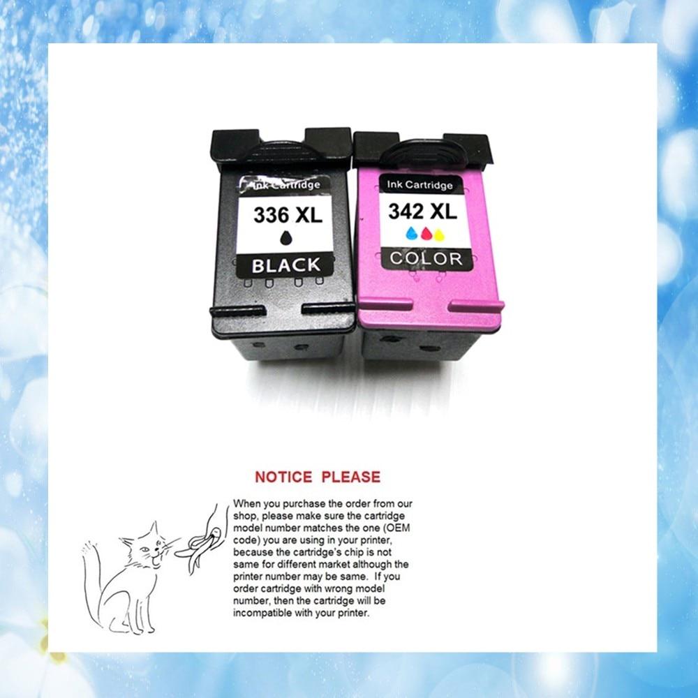 2 pcs para HP336 HP342 YOTAT cartucho de tinta para Impressora HP Deskjet 5440 series/Photosmart 2570/C3180/C4180 /7800/HP Officejet 6310/HP PSC 15
