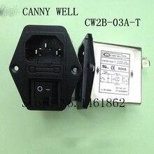CW2B-03A-T 110-250V 3A EMI potente filtro enchufe de tres pulgadas interruptor de correa equipo eléctrico