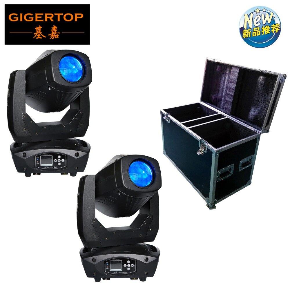 2 en 1 Roadcase 200W luz con cabezal móvil 3 en 1 LED blanco DMX 18CH fiesta DJ Luz de boda envío gratis fabricante de China 110 v-220 v