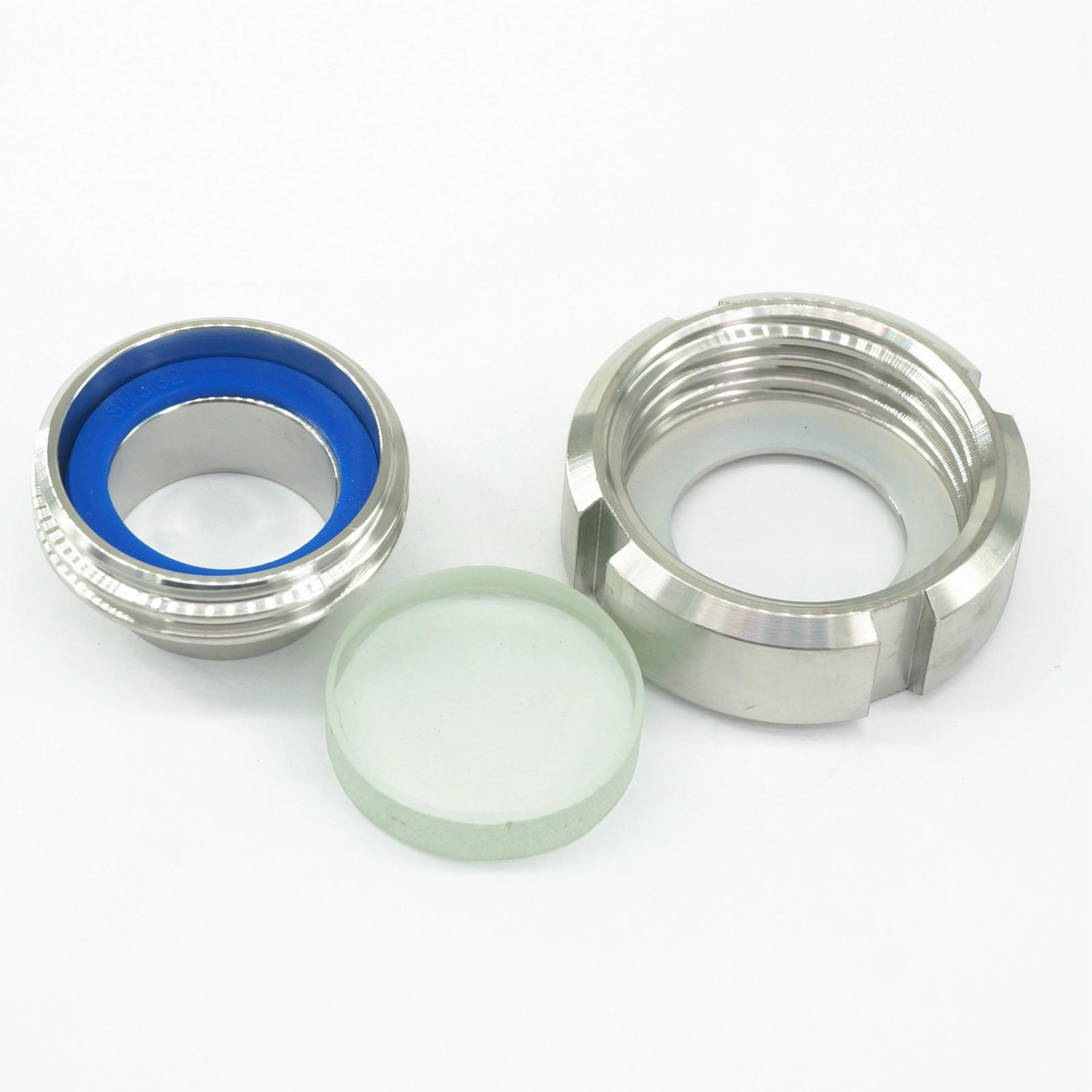 32 مللي متر الصحية لحام الاتحاد نوع البصر الزجاج الفولاذ المقاوم للصدأ SS304 دائري