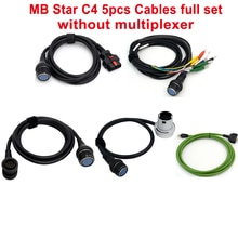 Câbles de haute qualité MB Star C4 aucun multiplexeur   Complet, fonctionne pour MB Star C4 SD, connecter les 4 voitures et camions compacts, câble de Diagnostic