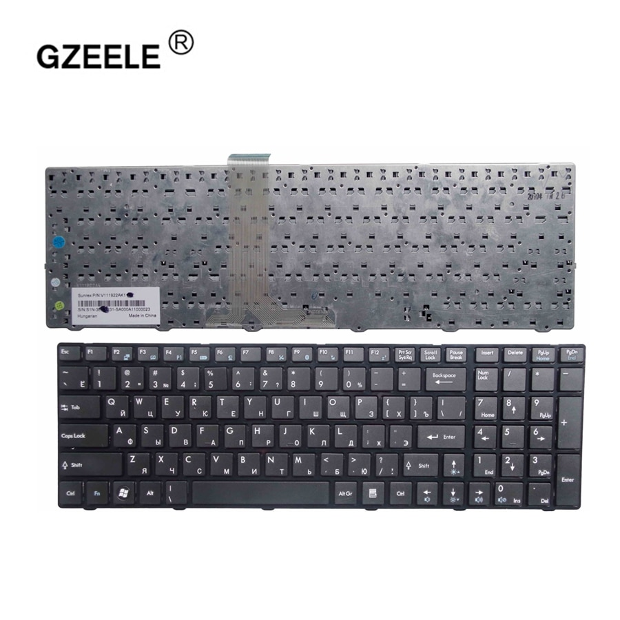 Русская клавиатура GZEELE для MSI A6200 CR620 CX705 S6000, MS-1681, CX705, MS16GB, MS16GA, черная клавиатура для ноутбука RU