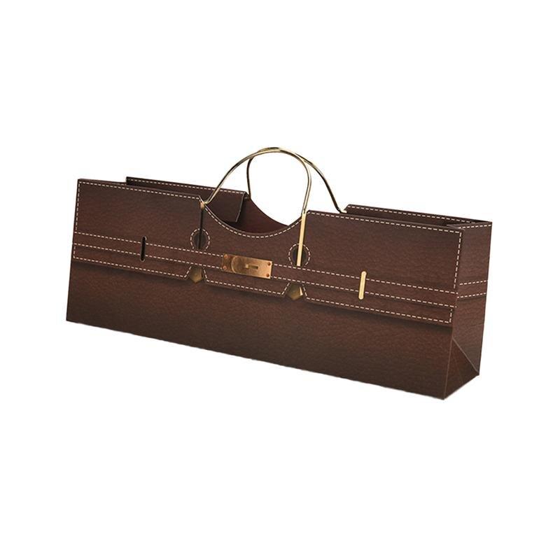 1 Pc Creative Horizontal Wine Storage Bag Portable Foldable Grape Wine Gift Bag Beer Carrier Tote Gift Bag