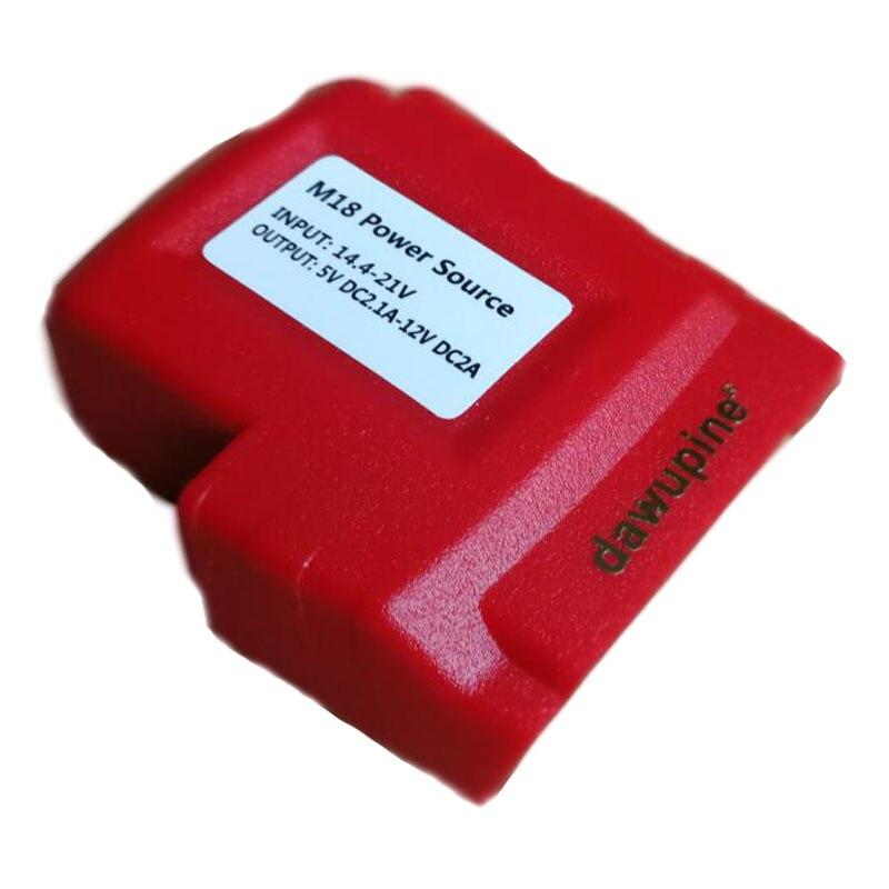 Batería de ion de litio adaptador de conector de alimentación USB para Milwaukee 18V 1.5Ah 3Ah 6Ah 9Ah M18 de litio herramienta dispositivo USB cargador de salida DC 12V