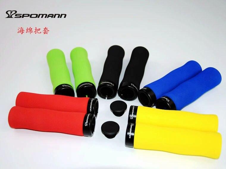 Абсолютно новый 5 видов цветов SPOMANN руль для велосипеда, сплав, фиксированная ручка, руль для велосипеда, губка, наконечник, затычки MTB, легкие...