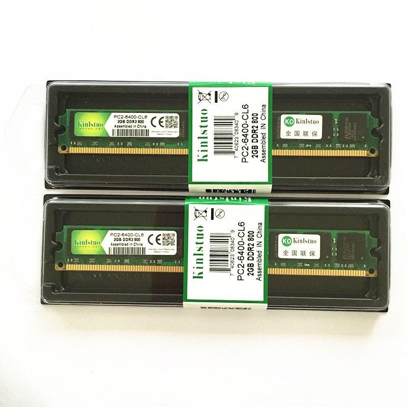 Kinlstuo marca ddr2 2gb ram 800MHz/667MHz PC 6400/5300 para todos de memoria...