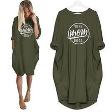 2019 nouvelle mode T-Shirt de poche pour femmes femme maman patron lettres imprimer hauts T-Shirt femmes grande taille mignon coton Camiseta coréen
