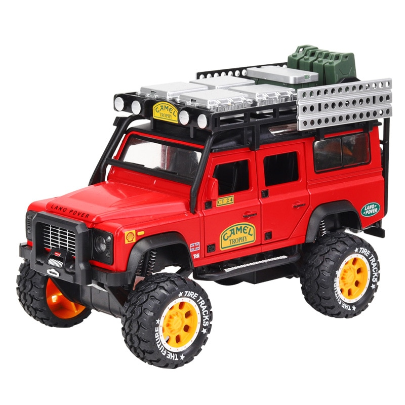 1:28 Diecast Metal Toy Car Model Alloy Lands Rovers Suv Metal Car Simulation Car Sound And Light Pull Back Car Toy For Kids Gift 1 24 diecast alloy car model metal car toy wheels toy vehicle simulation sound light pull back car collection kids toy car gift