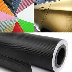 30cmx127cm 3D Carbon Fiber Vinyl Car Wrap Sheet Roll Film Car stickers and Decals Motorcycle Car Sty