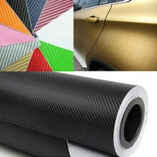 30cmx127cm 3D Carbon Fiber Vinyl Car Wrap Sheet Roll Film Car stickers and Decals Motorcycle Car Sty