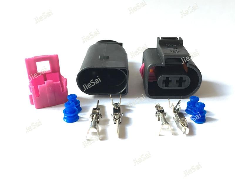 2 1 J0 973, 722-1717692-1 8D0973822 3,5mm hembra macho conector del sensor de temperatura para automóvil eléctrico enchufe de claxon de conector para VW Audi