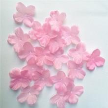 100/300/500Pcs Cherry Blossom Rose Flowers Wedding Petals Fake Artificial Silk Flowers Home Decoration Party Supplies