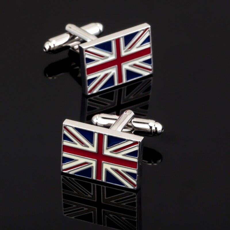 Free shipping, high quality men's shirt cuff button, brand new classic British flag cufflinks, French wedding shirt buttons.