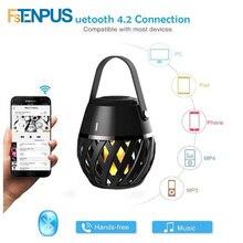 LED Spesker Fiamma Luce Atmosfera Lampada con Altoparlante Bluetooth Lampada Led Speaker Della Lampada Regali di Festa Del Partito Creativo 3D Nightlight