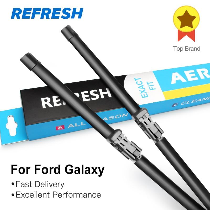 REFRESH Escobillas limpiaparabrisas Ford Galaxy Fit Gancho resistente / Pasador lateral / Pulsador / Pestaña Modelo año desde 1995 a 2018