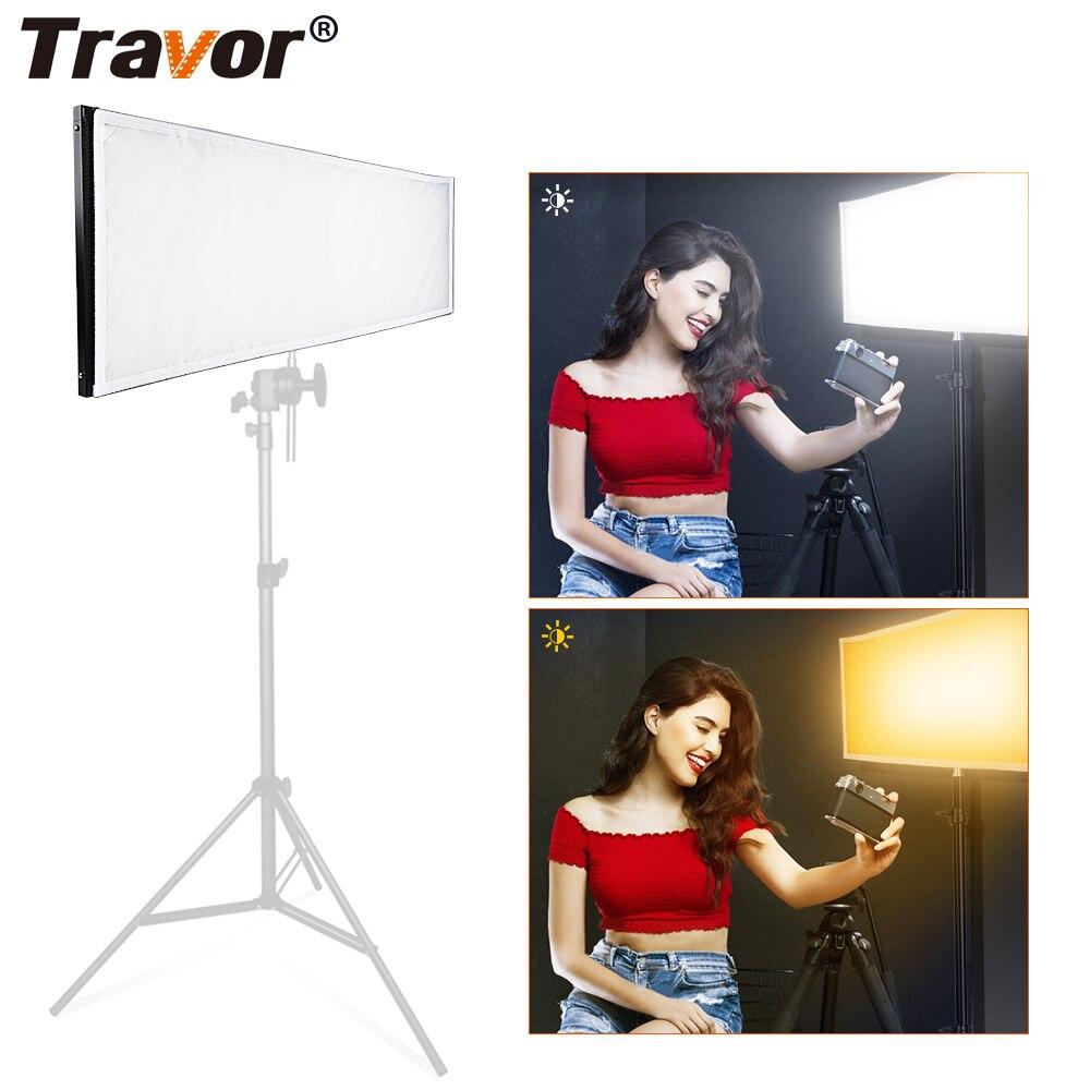 Travor-مصباح فيديو LED ثنائي اللون ، 30 × 90 سنتيمتر ، مع جهاز تحكم عن بعد 2.4 جرام وحقيبة
