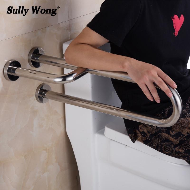 Sully Casa 304 Do Banheiro Do Aço Inoxidável Higiênico Trilhos de Segurança, Pessoas Com Deficiência e idosos Barrier-free corrimão, u-tipo Banheira Alça