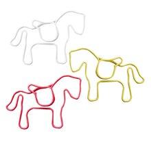 Металлические бумажные зажимы 24 шт в ПВХ коробке лошади