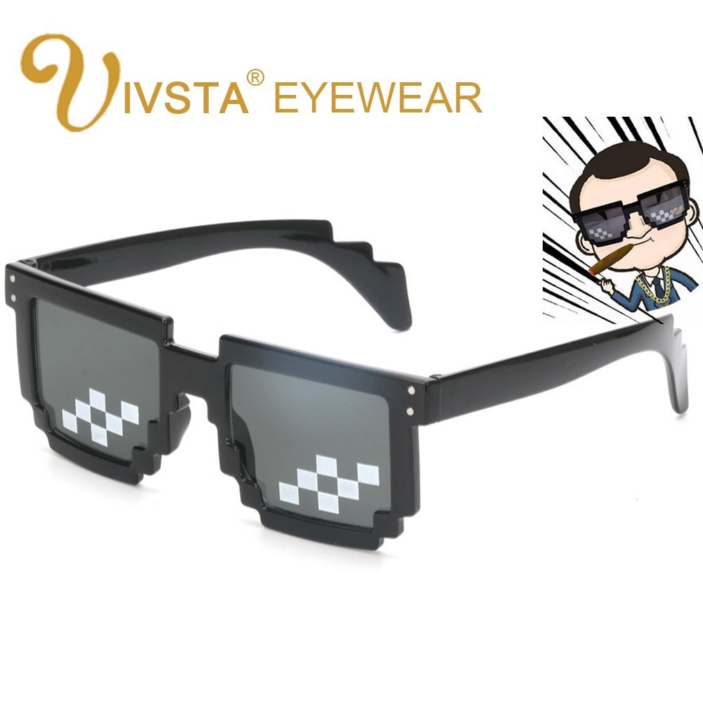 IVSTA Dear con él gafas de sol cuadradas para hombre, gafas de fiesta para hombre, mosaico Steampunk Hipster de gran tamaño, moda única geek Irregular 1005
