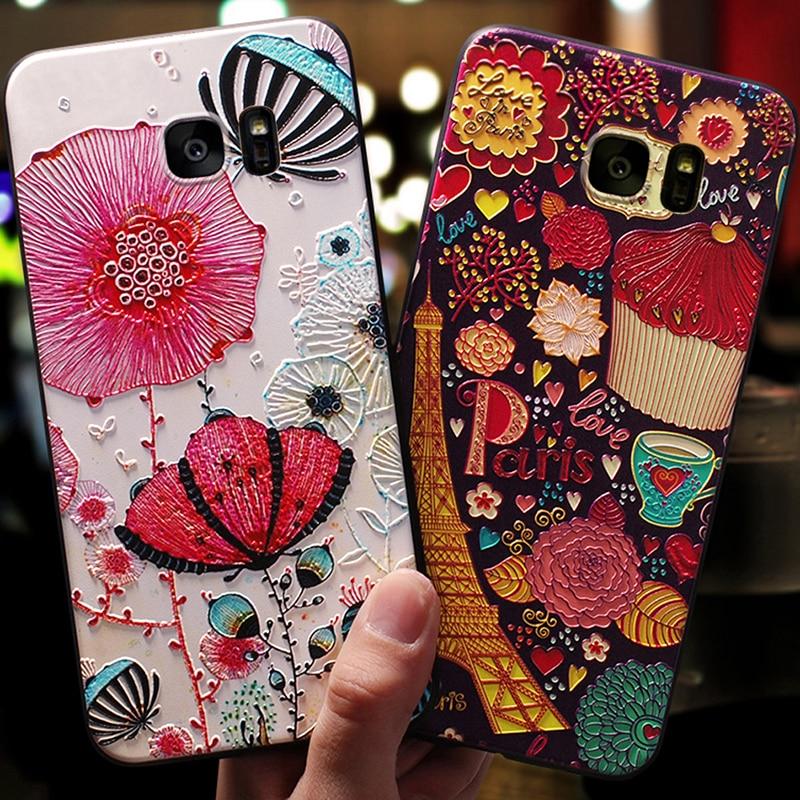 YonLinTan luxury coque,cover,case For Samsung galaxy s 7 s7 / s7 Edge s7edge phone back 3D etui Capa cute