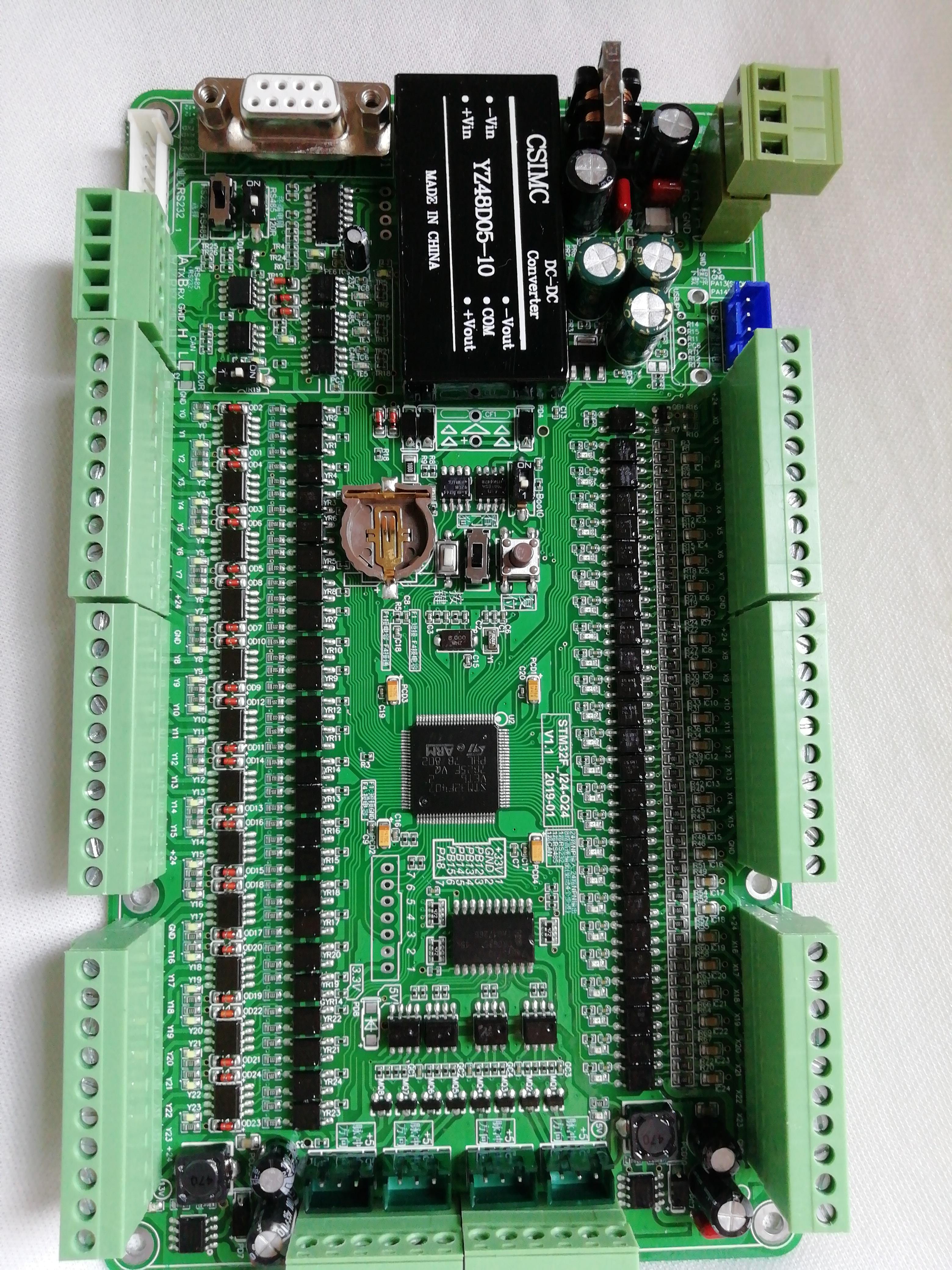 KEIL 520 programación de STM32F103VCT6 tablero de Control Industrial + Control de pulso de Motor de 4 vías RS232 RS485 C programación de lenguaje