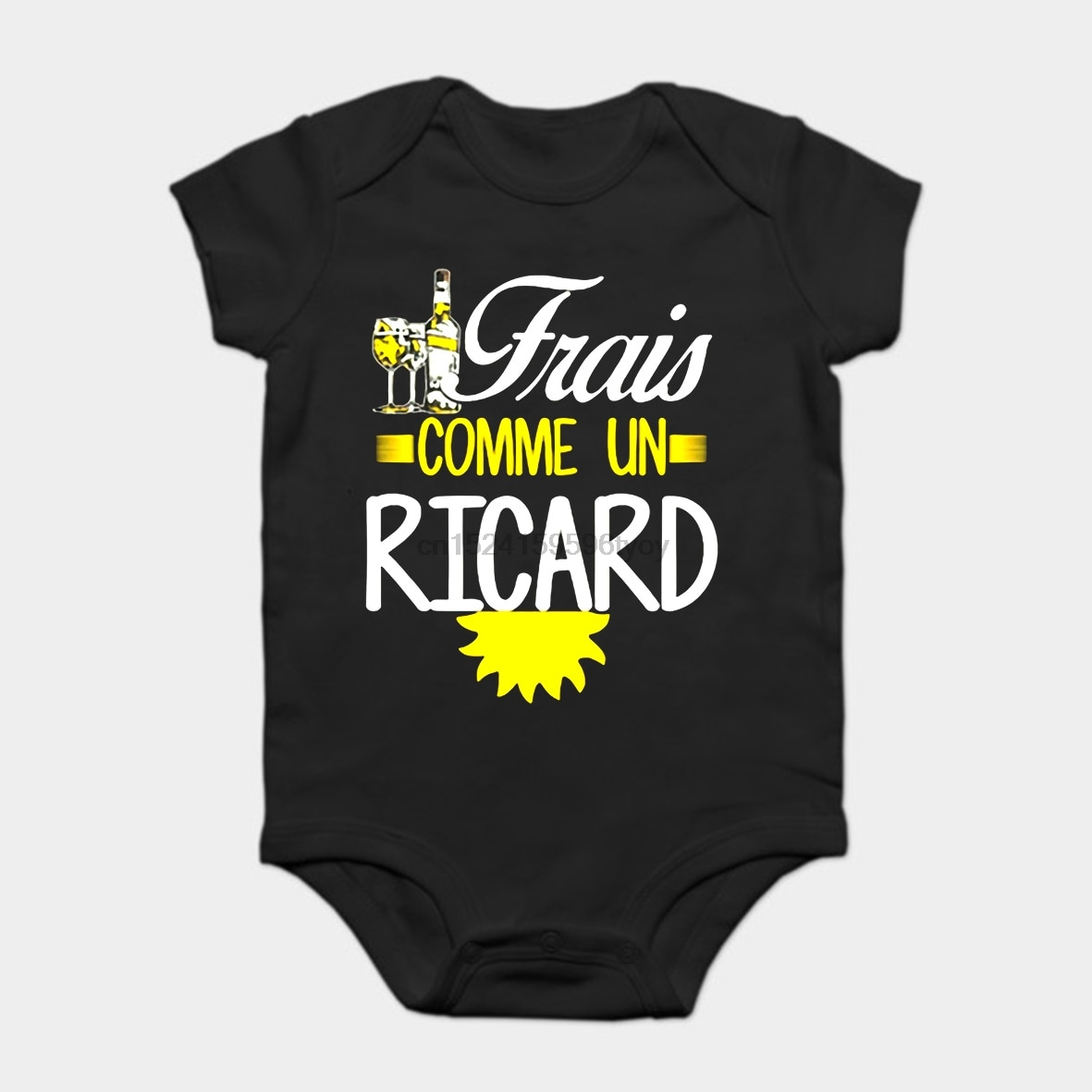 Pelele de bebé pelele chico Camiseta Hombre Frais Comme Un Ricard Camiseta de algodón S-3xl