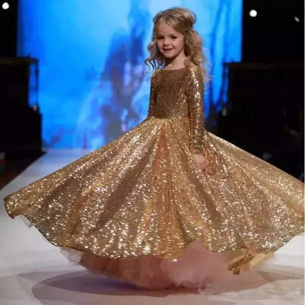 New Arrivals Flower Girls Beading Lace Appliques O-neck Tulle Ball Gowns Little Girls Wedding Gowns Girls Princess Dresses enlarge