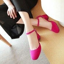 Grande taille 13 talons hauts sandales femmes chaussures femme été Baotou boutonné sandales, flanelle tissu chaussures pour femmes
