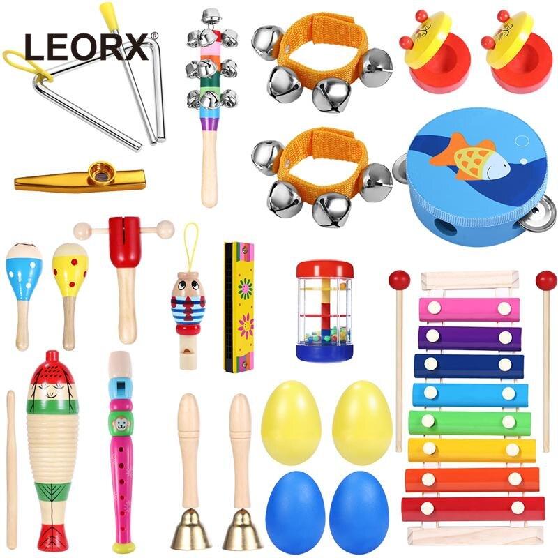 23 stücke Musical Spielzeug Percussion Sicher ungiftig ungiftig Spielzeug Musical Instruments Educational Tools Rhythmus Kit für kinder Kleinkinder