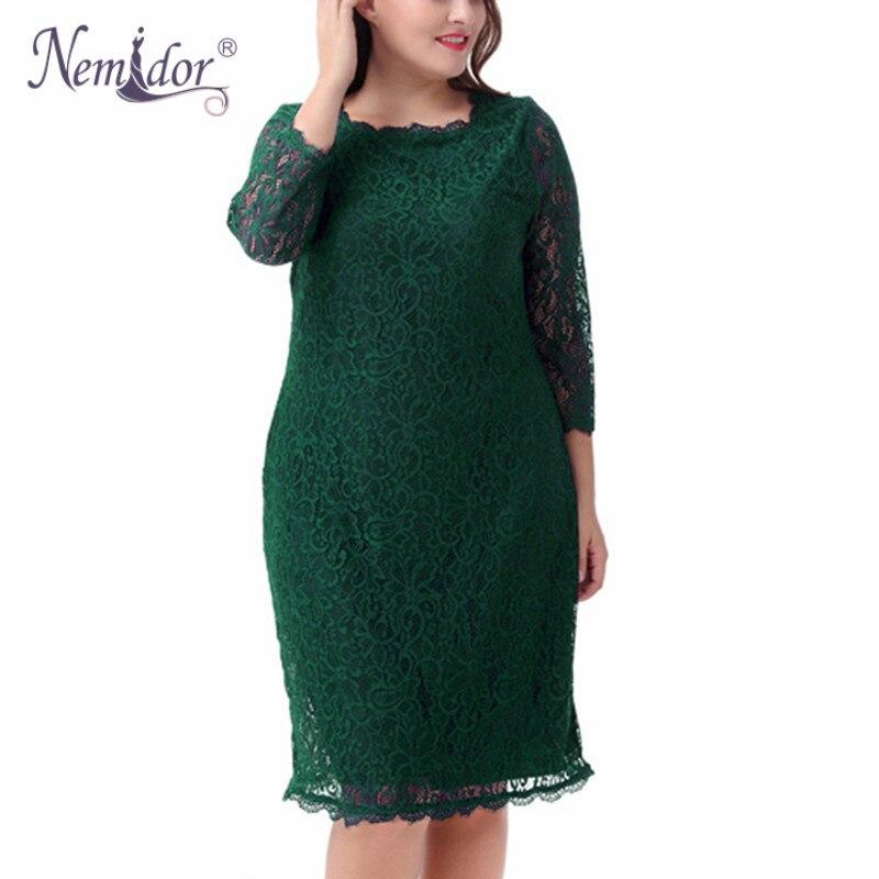 Женское облегающее платье Nemidor, элегантное облегающее платье средней длины с рукавом 3/4 в стиле ретро, винтажные вечерние платья с квадратны...