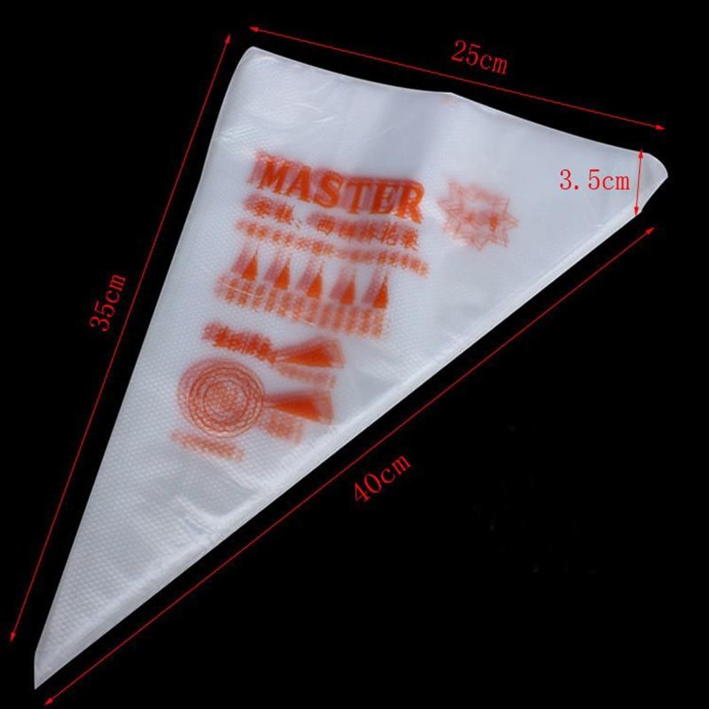 Nuevo 100 piezas de gran tamaño 35 cm * 40 cm bolsa de tubería desechable glaseado Fondant pastel crema decoración pastelería punta herramienta